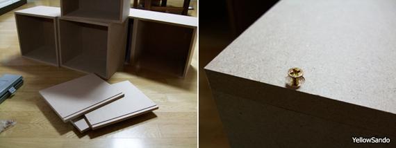 공간박스 + 폼보드로 문짝 만든 허접 수납장